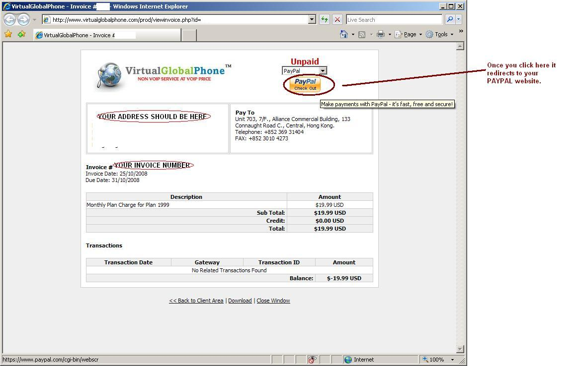 VirtualGlobalPhone Knowledgebase How Do I Remit Pay Funds - How to make invoice payment